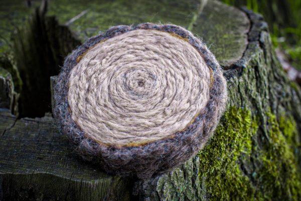 filcowy plaster drewna filcowanie na sucho